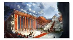 Art - Reconstruction of Persepolis - Tomb of Cyrus the Great - Pasargadae