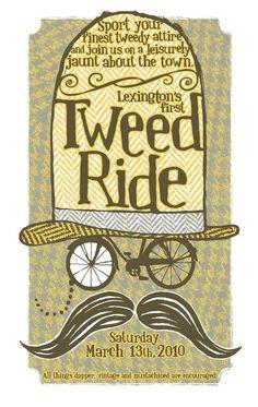 Tweed Ride - screenprinted poster