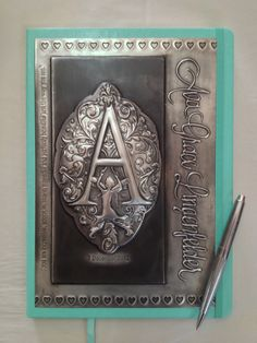 Ava's pewter journal, Mimmic Gallery and Studio