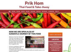 Thai ravintola Prik Hom sai uudet kotisivut Kotisivukoneen Avaimet käteen -palvelun avulla.