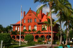 The Key West Customs House in downtown Old Town is a landmark and now often displays art shows for visitors.
