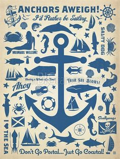 Zoom: Anchors Aweigh - Retro Poster | Great Big Canvas