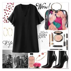 """6"" by missv7 ❤ liked on Polyvore featuring Trademark Fine Art, Milly, Christian Louboutin, Noor Fares, Hueb and Bobbi Brown Cosmetics"