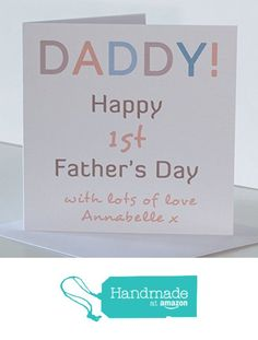 1st father's Day Card from Son or Daughter for Daddy. 1st Fathers Day Card. Daddy Father's Day Card from The Baby, Daughter, Son, New-born Baby, Daddies little Boy, Daddies little Girl, Twins. from Peppercorn Cards https://www.amazon.co.uk/dp/B071R3PXPJ/ref=hnd_sw_r_pi_awdo_CT79ybGNJZZG9 #handmadeatamazon