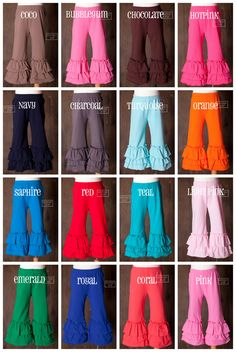 ST Knit Solid Color Triple Ruffle Pants.  I'm nuts about these.