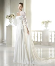 Style * SELIMA * » Wedding Dresses » Fashion 2015 Collection » by San Patrick ~ Shown with matching Cape