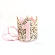 Miniatur 1. Geburtstag krönen Stirnband-erröten und von Kichiqueen
