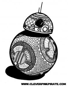 Free Printable Star Wars BB-8 Coloring Page - Clever Pink Pirate » Clever Pink Pirate