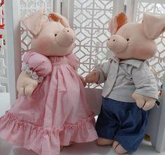 Casal Porquinhos Fazendinha