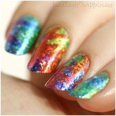 transfer foil #nails #nailart