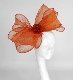 Burnt Orange Facinator Hat for Kentucky Derby by Hatsbycressida, $120.00