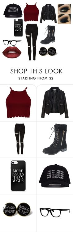 """bad girl"" by jaiden-ortiz on Polyvore featuring Boohoo, Zizzi, Topshop, Bobbi Brown Cosmetics and Lime Crime"
