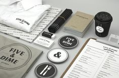 Five & Dime,   Branding design for a restaurant/cafe in Singapore