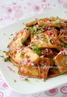 Hot and Sour Tofu Slices