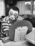 Former College Professor Charles Boas Putting on Makeup For New Job as a Circus Clown - Francis Miller - Premium Photographic Print from Art. co. uk