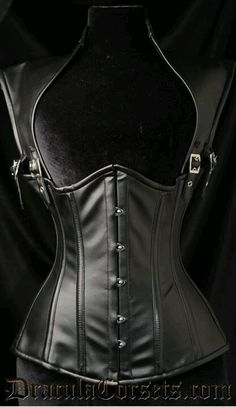 89071178132 Faux Leather Apocalyptic Corset Rock Outfits
