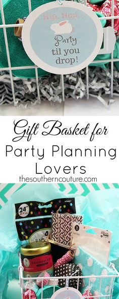 Get your free printable for this gift basket that everyone party planning lover would die for. It is full of all the party essentials.