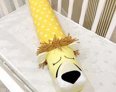 Baby crib bumper LION KING Pillow Handmade, Bolster Pillow, Baby Bed Bumper, Baby Shower Present