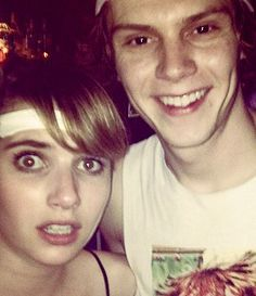 evan peters and emma roberts - Google Search