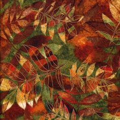 Autumn Forest Leaves  Shades of the Season 6  by BywaterFabric