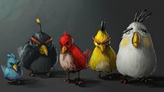 Angry Birds Art Pictures