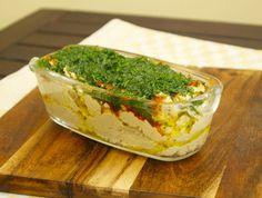 Hummus mit Paprika und Petersilie