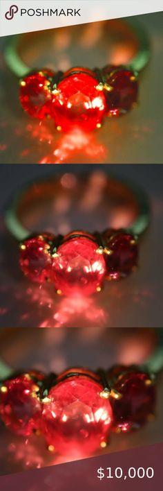 18K Gold Filled Femme Cristal Mystique Topaze Rouge Ovale Ruby Gems Bracelet Bijoux