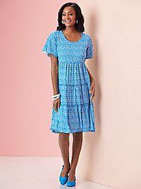 Sara Morgan™ Tiered Dress by Haband