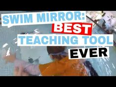 The swim mirror, made of reinforced polished aluminum is one of the best investments that I've ever made for my swim school. I wish the entire bottom of my p. Swimming Equipment, Swimming Gear, Baby Swimming, Dry Land Swim Workouts, Workouts For Swimmers, Teach Kids To Swim, Learn To Swim, Underwater Swimming, Swim School