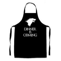 Dinner is Coming  Game of Thrones inspired apron Winter is Coming kitchen cooking novelty item