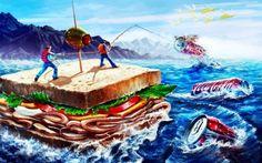 coke desktop wallpaper | coke-fishing - Fantasy & Abstract Background Wallpapers on Desktop ...