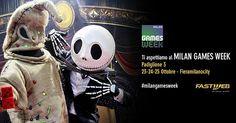 Fastweb è presente alla quinta edizione della Games Week che si tiene da oggi e fino al 25 ottobre a Milano. - #hailafibragiusta