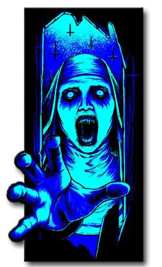 Terror Threads Night Of The Nun Horror Enamel Pin Limited Edition of 250 Cloisonné Hard Enamel Pin Black Nickel Plating Custom Terror Threads Stamping On B Jig Saw, Best Horror Movies, Scary Movies, Dark Souls Art, Dark Art, Satan, Crazy Wallpaper, Horror Artwork, Horror Pictures