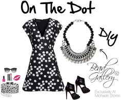 Click for printable instructions to make the DIY On The Dot #Necklace by @dyezbakmoore featuring #BeadGallery beads available at @michaelsstores