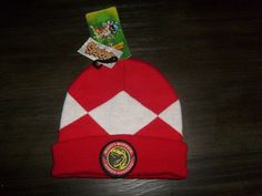 MIGHTY MORPHIN RED POWER RANGER OSFM ADULT WARM WINTER BEANIE HAT CAP  #SPENCERS #BEANIE