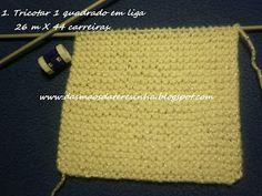 Das Mãos da Teresinha: Sapatinho de tricô para bebé