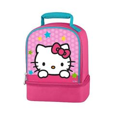 Hello Kitty Dual Lunch Kit ($8.99) ❤ liked on Polyvore