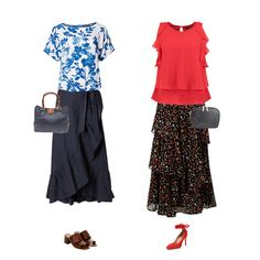 Summer trend skirts, capsule wardrobe