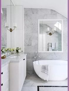 Sydney 1870 S Heritage House Restoration Carrara Marble Wall And Floor Tiles Distinguish This Luxurious And Elegant White Bathroom Styling Sarah Maloney Grey Marble Bathroom, Marble Wall, Bathroom Floor Tiles, Wall And Floor Tiles, Small Bathroom, Bathroom Ideas, Shower Ideas, Grey Marble Tile, Marble City