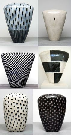 Dango (monumental ceramic sculptures) by Jun Kaneko Ceramic Tableware, Ceramic Clay, Ceramic Pottery, Pottery Art, Slab Pottery, Ceramic Bowls, Sculptures Céramiques, Ceramic Sculptures, Keramik Vase
