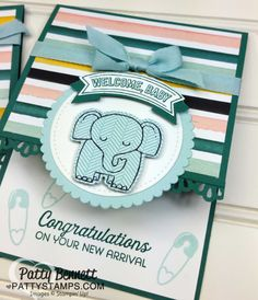 Welcome Baby Elephant card featuring A Little Wild