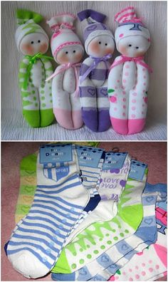 Learn How To Make A Sock Doll The Easy Breezy Way is part of Sewing toys - Learn how ot make a sock doll We have video instructions to show you how and you will adore the super cute results that you achieve Sock Crafts, Baby Crafts, Sewing Crafts, Sewing Tips, Sewing Hacks, Sewing Tutorials, Tutorial Sewing, Sewing Ideas, Doll Videos