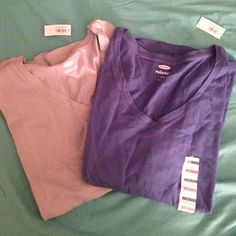 Light blue and dark blue old navy long sleeve tops NWT each retails for 24.95 Old Navy Tops Tees - Long Sleeve