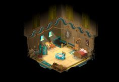 Game environment concepts. Cute!