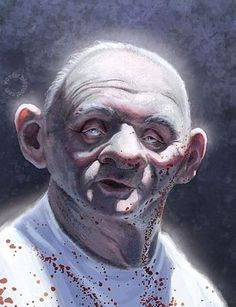 Bloody Hannibal caricature
