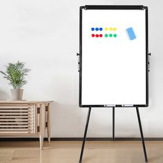 """Amazon.com : NEUTYPE Magnetic Tripod Whiteboard (36"""" x 24"""") Dry Erase Board Flipchart Easel - Height Adjustment Standing Whiteboard : Office Products"""