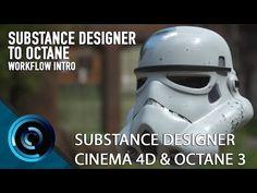 Substance Designer to Octane Cinema 4D PBR - YouTube