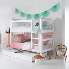 """Obtain great suggestions on """"modern bunk beds for boys room"""". They are accessible for you on our internet site. Cool Loft Beds, Modern Bunk Beds, Kids Bunk Beds, Kid Spaces, Kids Furniture, Cheap Furniture, Girls Bedroom, Bedrooms, Room Decor"""