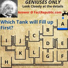 Can you tell us which tank will fill up First? click on the image to know the answer!