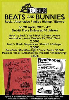 Ostersonntag @ Radhaus Kleve - Beats and Bunnies :: 20.00 - 4.00 :: Eintritt frei #radhaus #kleve #radhauskleve